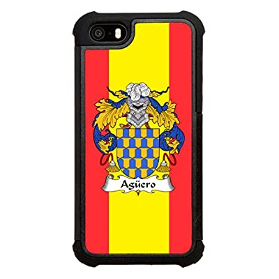 Agüero Family Crest Spanish Coat of Arms Click America Tuff Impact iPhone 5s Case