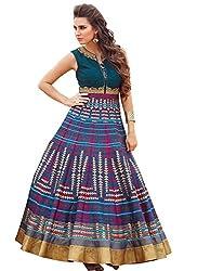 Rozdeal Latest Blue Pure Bhagalpuri Designer Gown