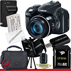 Canon PowerShot SX50 HS Digital Camera 32GB Package 3