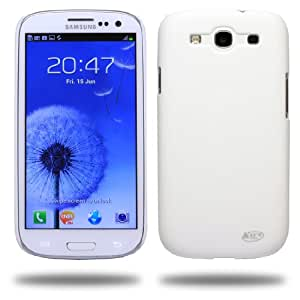 KaysCase Slim Hard Shell Snap-on Case for AT&T,Verizon,Sprint,T-mobile Samsung Galaxy SIII i9300 - White