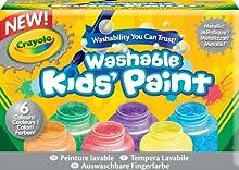 Comprar Crayola - 6 botes de pintura lavable con acabado metalizado (54-5000)