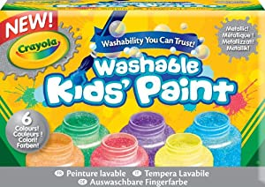 Crayola - 54-5000-e-000 - Kit De Loisirs Créatifs - 6 Pots De Peinture - Métallique