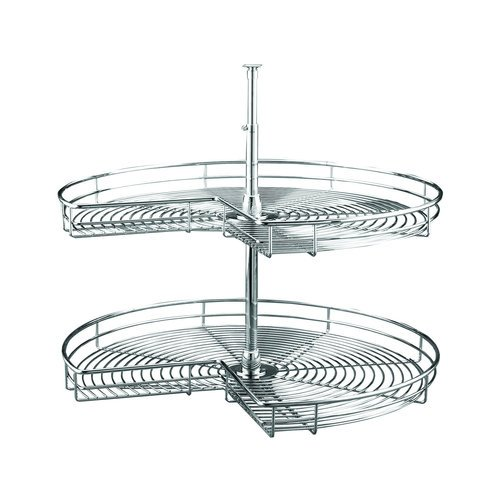Rev-A-Shelf 32in Kidney Shape Chrome Susan 2 Shelf Set