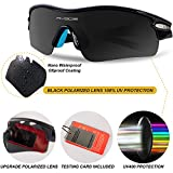 RIVBOS Unisex Polarized Sports Sunglasses with 5 Interchangeable Lenses for Cycling, Baseball