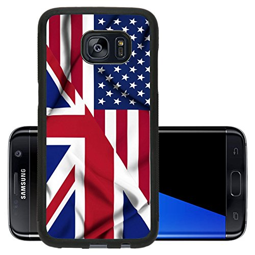 Liili Premium Samsung Galaxy S7 Edge Aluminum Backplate Bumper Snap Case IMAGE ID: 19305815 United States of America and United Kingdom waving flag (Images Of America Ames compare prices)