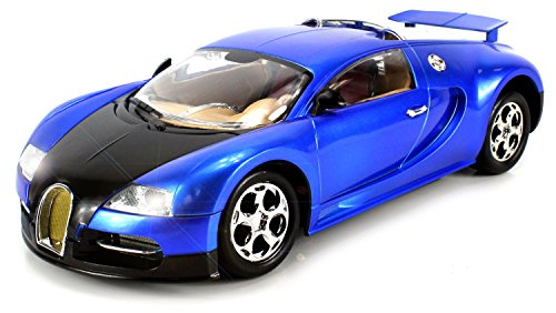 Super Sport Bugatti Veyron Remote Control Car Big Size 1:14 Scale Ready To Run Rtr W/ Working Headlights (Colors May Vary)