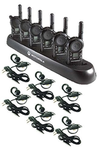 6-pack-of-motorola-cls1410-walkie-talkie-radios-with-headsets-6-bank-charger