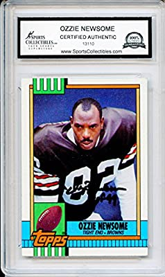Ozzie Newsome Autographed Cleveland Browns Trading Card - Encapsulated & Certified Authentic