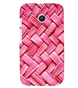 Printvisa Pink Zig Zag Pattern Back Case Cover for Motorola Moto E XT1021::Motorola Moto E (1st Gen)