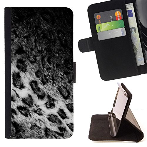 BOOK CASE - FOR Motorola Moto E 2nd Generation - Animal fur coat - Folio PU Wallert Leather Case