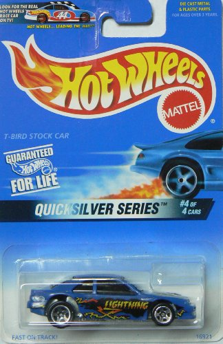 Hot Wheels 1997-548 Quicksilver Series 4 of 4 T-bird Stock Car 1:64 Scale - 1