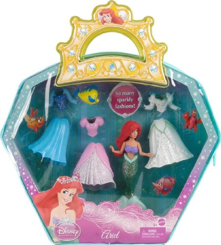 Disney Princess Ariel Favourite Moments Pocket Fashion Doll (with Accessories and Carry Bag)