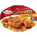 Hormel Compleats Salisbury Steak with Sliced Potatoes & Gravy, 10-Ounce Microwavable Bowls (Pack of 6)