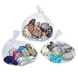 Decorative Glass Stones Marbles in Assorted Shapes -3lbs For Vase Fillers ,Table Scatters or Craft