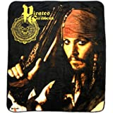 "Pirates of the Caribbean ""Jack Loaded"" Over-size Micro Raschel Throw Blanket ~ Little Jammies"