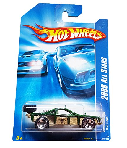 Hot Wheels 2008 All Stars Roll Cage Dark Green and Silver #057/196 - 1