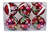 6pk 80mm Snowman Shatterproof Christmas Ball Ornaments