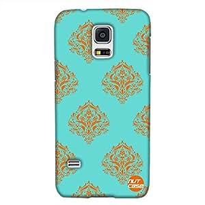 Designer Samsung galaxy S5 Cover Nutcase -Mint & Orange Damask