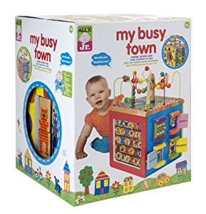 ALEX® Toys - Alex Jr. My Busy Town -Baby Wooden Developmental Toy 4W by Alex
