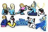10 pcs Frozen (Elsa,anna,kristoff,olaf,sven) Shoe Charms