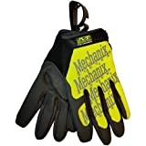Authentic Mechanix Original Gloves PAIR (Hi Viz Lime) with Handy Glove Clip - Size Medium (Color: Hi Viz Lime, Tamaño: Medium Size)