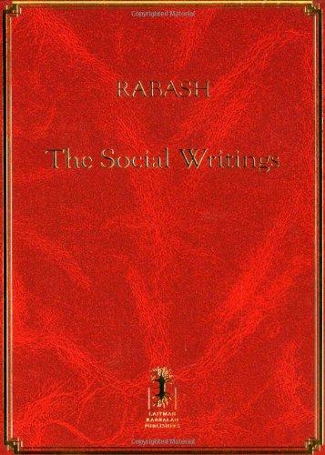 Rabash--The Social Writings PDF