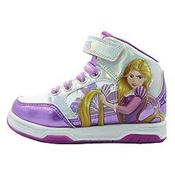 Disney Princess Rapunzel Girls Hi Top Sneaker Shoe (10 M US Toddler)
