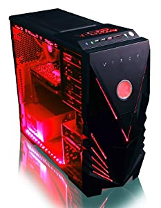 VIBOX Warrior 4X - Fast 4.0GHz 6-Core, High Spec, Desktop Gaming PC, Computer with Neon Red Internal Lighting Kit (AMD FX 6300 Six Core Processor, 2GB Nvidia Geforce GTX 960 HDMI Graphics Card, High Grade 500W PSU, 2TB HDD Hard Drive, 8GB 1600MHz RAM, DVD-RW, SD Memory Card Reader, No Operating System)