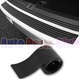 Auto Parts Club u800Rear Bumper Protector, Rear Bumper Guard/Universal Black Rubber Door Sill Guard for Car Pickup SUV Truck/Scratch-Resistant Boot Sill Protector,Easy D.I.Y. Installation(35.8 inch)