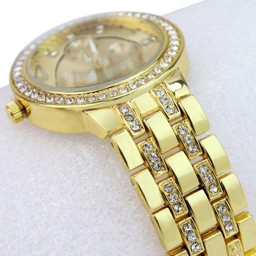 Unisex Fashionable Stainless Steel Gold Plated Luxury Crystal Quartz Wrist Watch switzerland relogio masculino luxury brand wristwatches binger quartz full stainless steel chronograph diver clock bg 0407 3