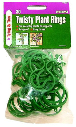 Gardman Twisty Plant Rings - Pack of 30