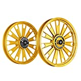 Kingway JS2E Zipp Bike Alloy Wheel Set of 2 19/19 Inch Gold Chrome-Royal Enfield Electra