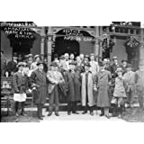 early 1900s photo Mediators at Niagara Falls Ambassador Naon & son Romulo, Justice Lamar, Amb. De Gama, Lehmann...