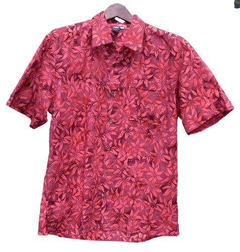 ca1fb2604fd Squish Mens 100 Cotton Bali Batik Shirt Red Flower XXL - Karen W ...