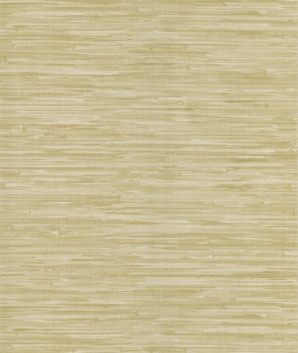 Brewster 405-49454 National Geographic Home Grasscloth Leaf Wallpaper, 20.5-Inch by 396-Inch, Tan
