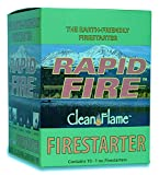Earth-Friendly Rapid Fire Firestarter (10-Pack). Non-Toxic, Lights When Wet-for Fireplaces, Camping, and More