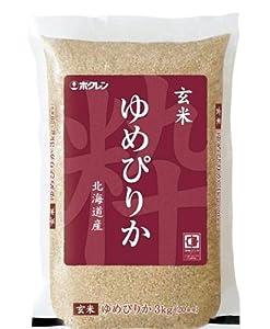ホクレン 北海道産 玄米 ゆめぴりか 3kg 平成24年産