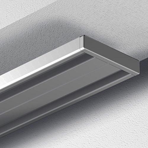 garduna 120cm gardinenschiene vorhangschiene aluminium. Black Bedroom Furniture Sets. Home Design Ideas