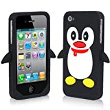 <span id=btAsinTitle >Black Penguin Silicone Soft Case Cover for Iphone 4 4g 4s</span>