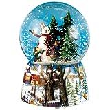 Spieluhrenwelt 46069 - Juguete de bola de nieve, diseño de muñeco de nieve