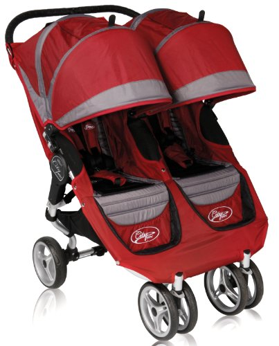 Baby Jogger 2011 City Mini Double Stroller, Crimson/Gray front-1037819