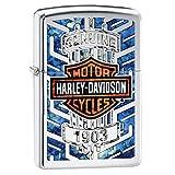 Zippo Harley Davidson Logo Armor Ice Pocket Lighter, Chrome (Color: High Polish Chrome Bar and Shield, Tamaño: One Size)
