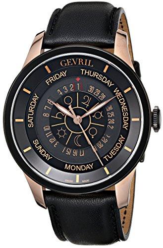 Gevril Hombre 2004Columbus Circle Acero Inoxidable bañada en rosa dorado reloj