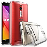 ASUS ZenFone 2 (5.5 Inch) Case - Ringke FUSION ***Earphone Hole Dust Cap & Drop Protection*** ENHANCED AND REVISED [FREE HD Film][CRYSTAL VIEW] Premium Clear Back Shock Absorption Bumper Hard Case for ASUS ZenFone 2 [ZE550ML/ZE551ML 5.5