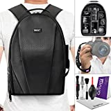 Vivitar Camera Backpack Bag w Altura Photo Wrist Strap and DSLR Cleaning Kit