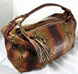 Angela Di Verbeno Handbags (Pine Nut Brown) Python Skin Hobo Bag