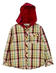 Red/Yellow Check Hooded Shirt Yellow Check