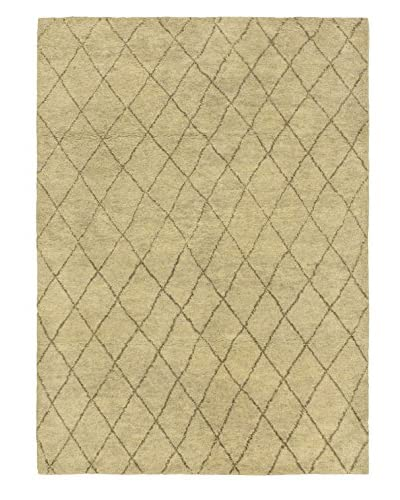 Hand-Knotted Marrakech Rug, Gray, 5′ 3″ x 6′ 11″
