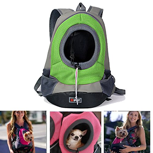 Pet Carrier,Pashion Breathable Double Shoulder Dog Pet Puppy Bags Backpack Knapsack Cat Carrier Packsack Travelling Pet Holder Bag for Biking, Hiking, Trip, Shopping