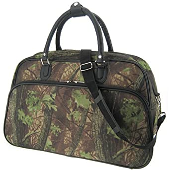 Sturdy! Hard Canvas Dome Duffle Bag Camo Camouflage Print Hunting Camping Travel or Sports